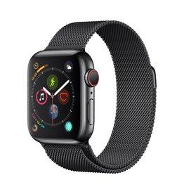 Apple Apple Watch Series 4 GPS + Cellular - 40mm - Space Black Stainless Steel Case with Space Black Milanese Loop