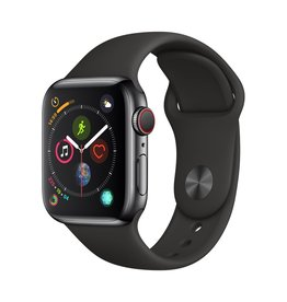 Apple Apple Watch Series 4 GPS + Cellular - 40mm - Space Black Stainless Steel Case with Black Sport Band