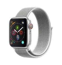 Apple Apple Watch Series 4 GPS + Cellular - 40mm - Silver Aluminium Case with Seashell Sport Loop