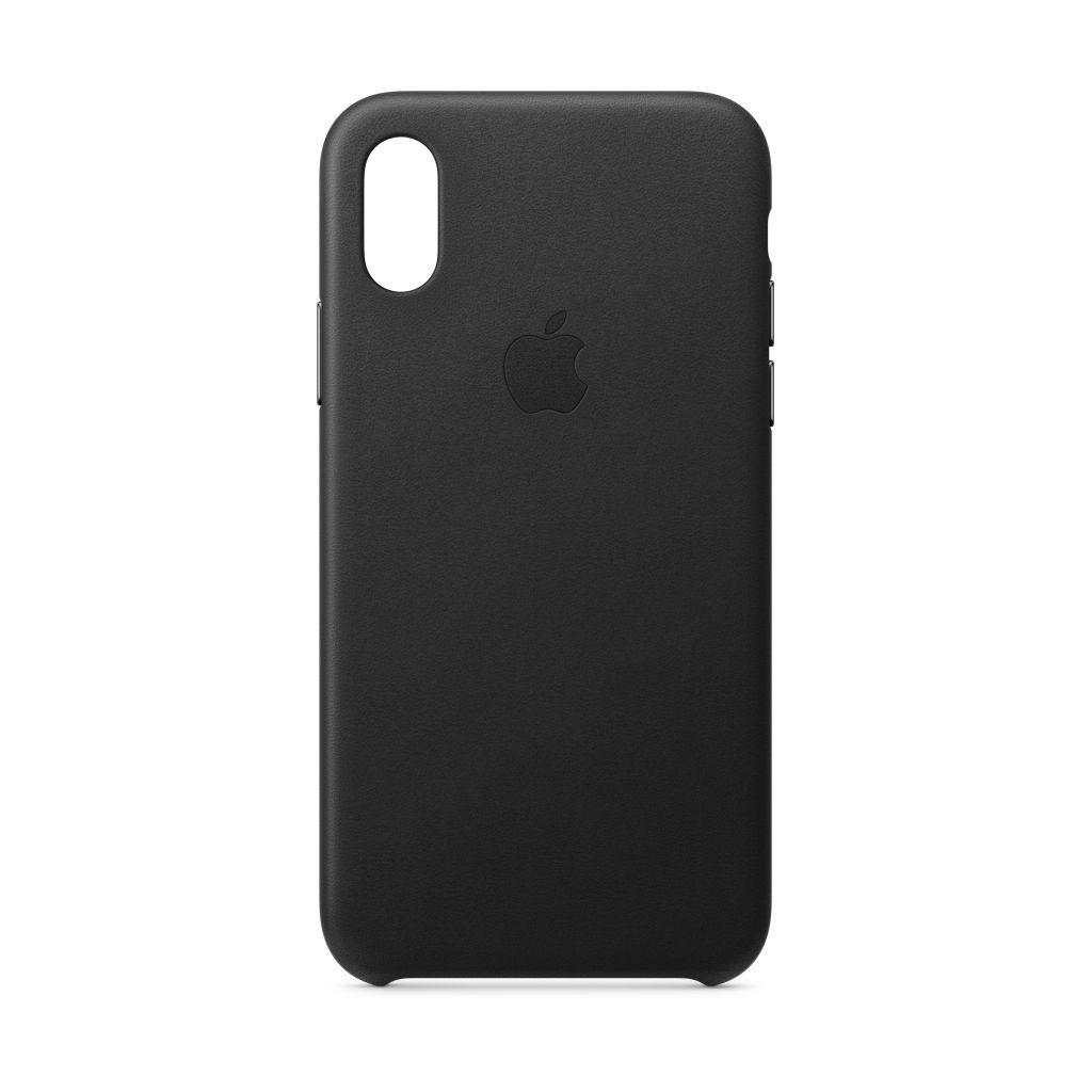 Apple Apple iPhone XS Leather Case Black