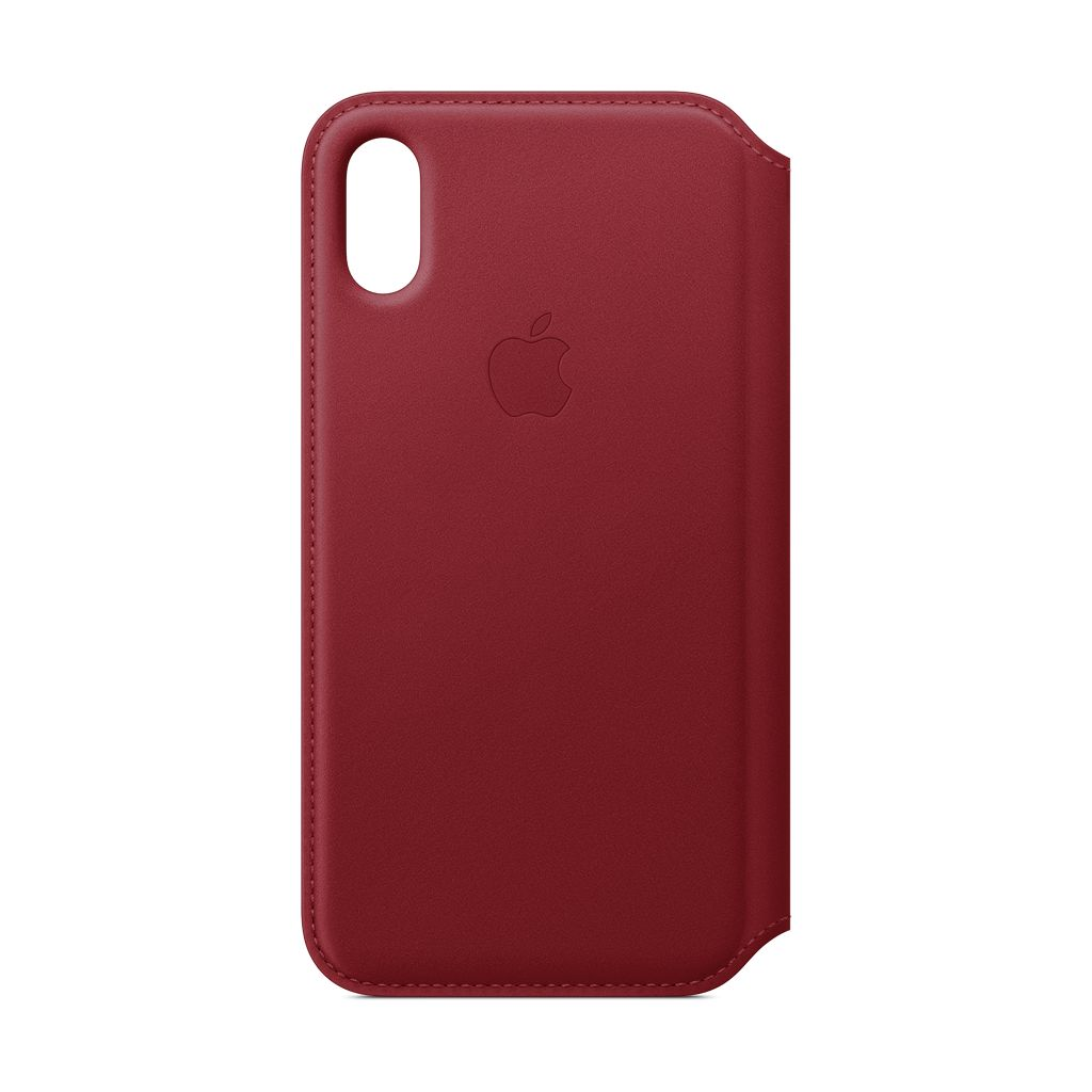 Apple Apple iPhone XS Leather Folio Red