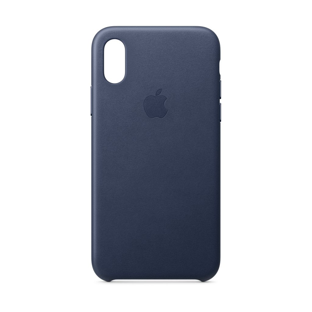 buy popular d83d0 bfe35 Apple iPhone XS Leather Case Midnight Blue