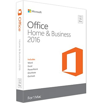Microsoft Microsoft Office Home & Business 2016 for Mac (includes Outlook) - 1 Mac - product key issued by email