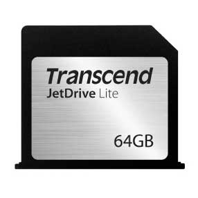 "Transcend Transcend 64GB JetDriveLite 130 for MacBook Air 13"" (Late 2010 - Early 2015)"