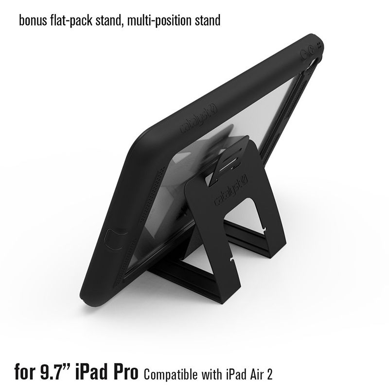 """Catalyst Catalyst Waterproof case for iPad Pro 9.7"""" Stealth Black (Black/Space Grey)"""