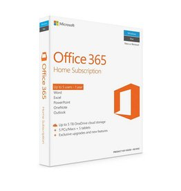 Microsoft Microsoft Office 365 Home Subscription - Up to 5 users -  1 year