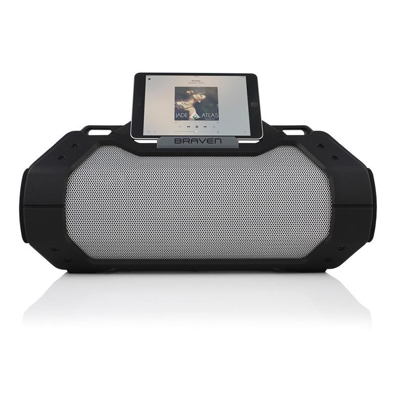 Braven Braven BRV-X Ultra Rugged IPX7 Waterproof Portable Wireless Speaker/Charger/Speakerphone - Black/Black