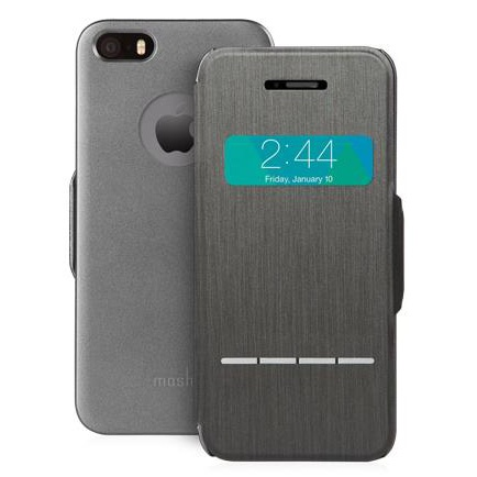 Moshi Moshi SenseCover for iPhone5/5S - Steel Black