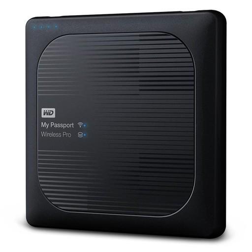 Western Digital WD My Passport Wireless Pro 2TB Wi-Fi mobile storage, USB3.0, Wireless AC, SD Card slot, PowerBank - Black