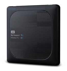 Western Digital WD My Passport Wireless Pro 1TB Wi-Fi mobile storage, USB3.0, Wireless AC, SD Card slot, PowerBank - Black