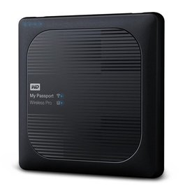 Western Digital WD My Passport Wireless Pro 4TB Wi-Fi mobile storage, USB3.0, Wireless AC, SD Card slot, PowerBank - Black