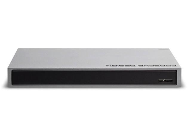 """Lacie LaCie 1TB Porsche Design Portable 2.5"""" Aluminium USB3.0/USB2.0 Hard Drive for Mac"""