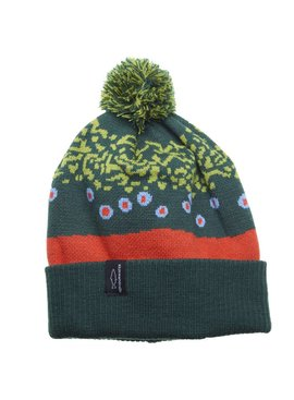 Rep Your Water REP YOUR WATER TROUT SKIN BEANIE WITH POM