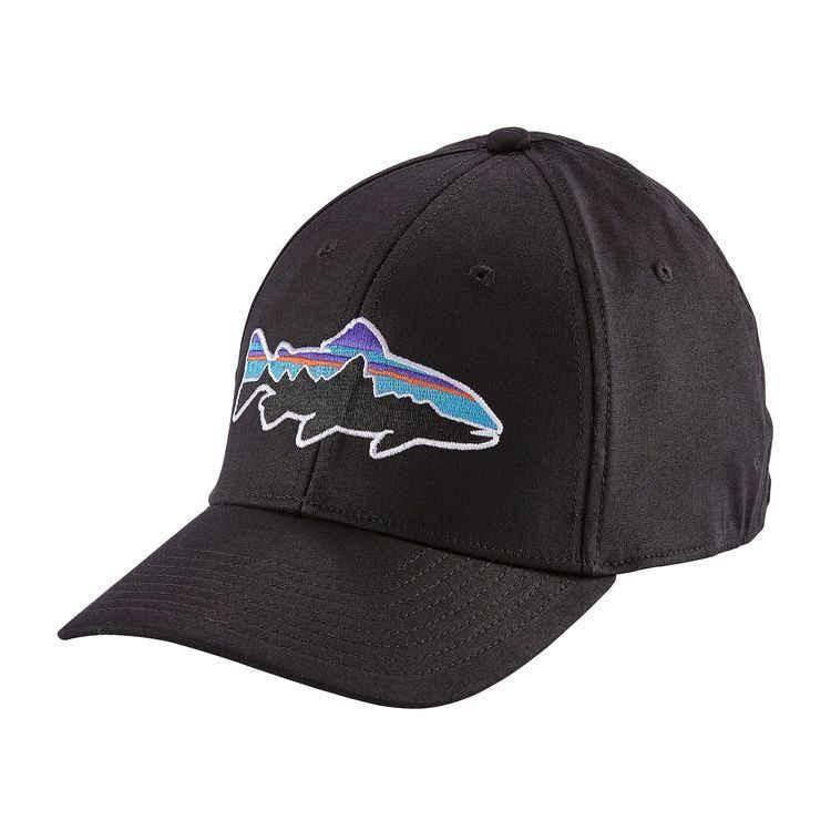 Patagonia PATAGONIA FITZ ROY TROUT STRETCH FIT HAT BLACK L/XL