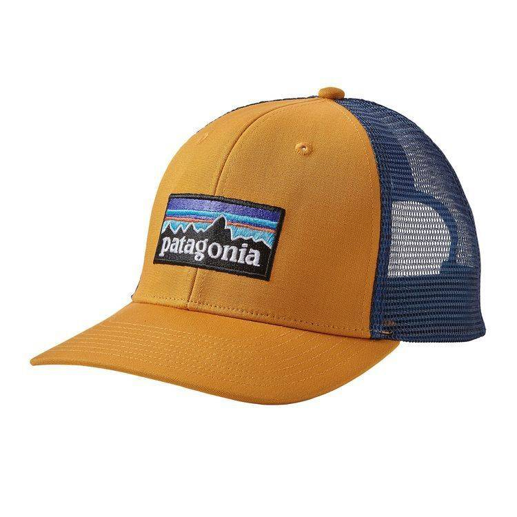 92f02e8e1ac38 PATAGONIA P-6 LOGO TRUCKER HAT YSIDRO YELLOW OSFA - Ugly Bug Fly Shop