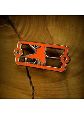 Sight Line Provisions Sight Line Provisions Enamel Badge Pin Dry Fly Orange