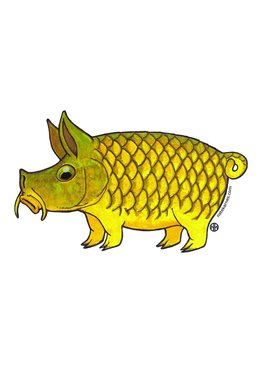 Remedy Provisions Pig Carp Decal