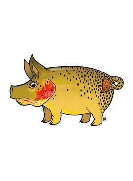 Remedy Provisions Pig Cutthroat Trout Decal