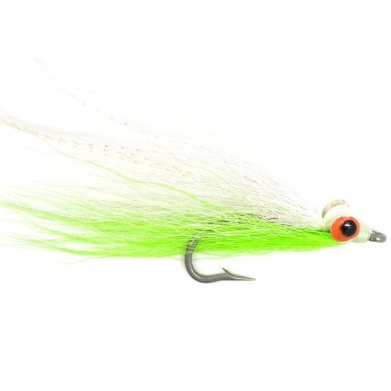 Clouser Minnow Chartreuse//White #6 Saltwater Flies by Umpqua NEW SHIPS FREE 2