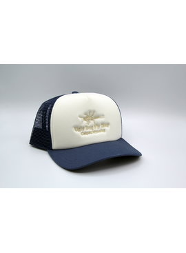 Simms Fishing Products SIMMS CBP BLANK FOAM TRUCKER CUSTOM UGLY BUG HAT WHITE