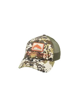 Simms Fishing Products SIMMS TROUT ICON TRUCKER RIVER CAMO