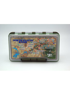 Montana Fly Company MFC FLY BOX WITH NORTH PLATTE MAP
