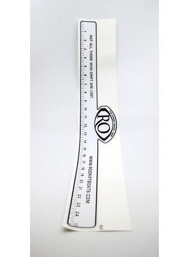 ro drift boats ruler sticker