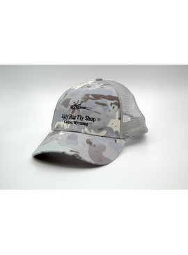 Simms Fishing Products SIMMS CBP TRUCKER CLOUD CAMO GREY WITH UGLY BUG LOGO