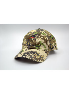 Simms Fishing Products SIMMS SINGLE HAUL CAP RIVER CAMO WITH CRAZY RAINBOW LOGO