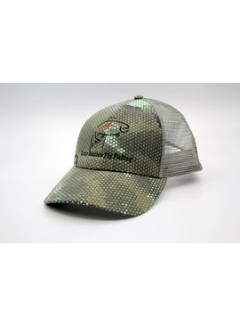 Simms Fishing SIMMS CBP TRUCKER HEX CAMO WITH CRAZY RAINBOW LOGO