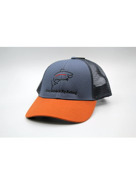 Simms Fishing Products SIMMS CBP TRUCKER STORM WITH CRAZY RAINBOW LOGO