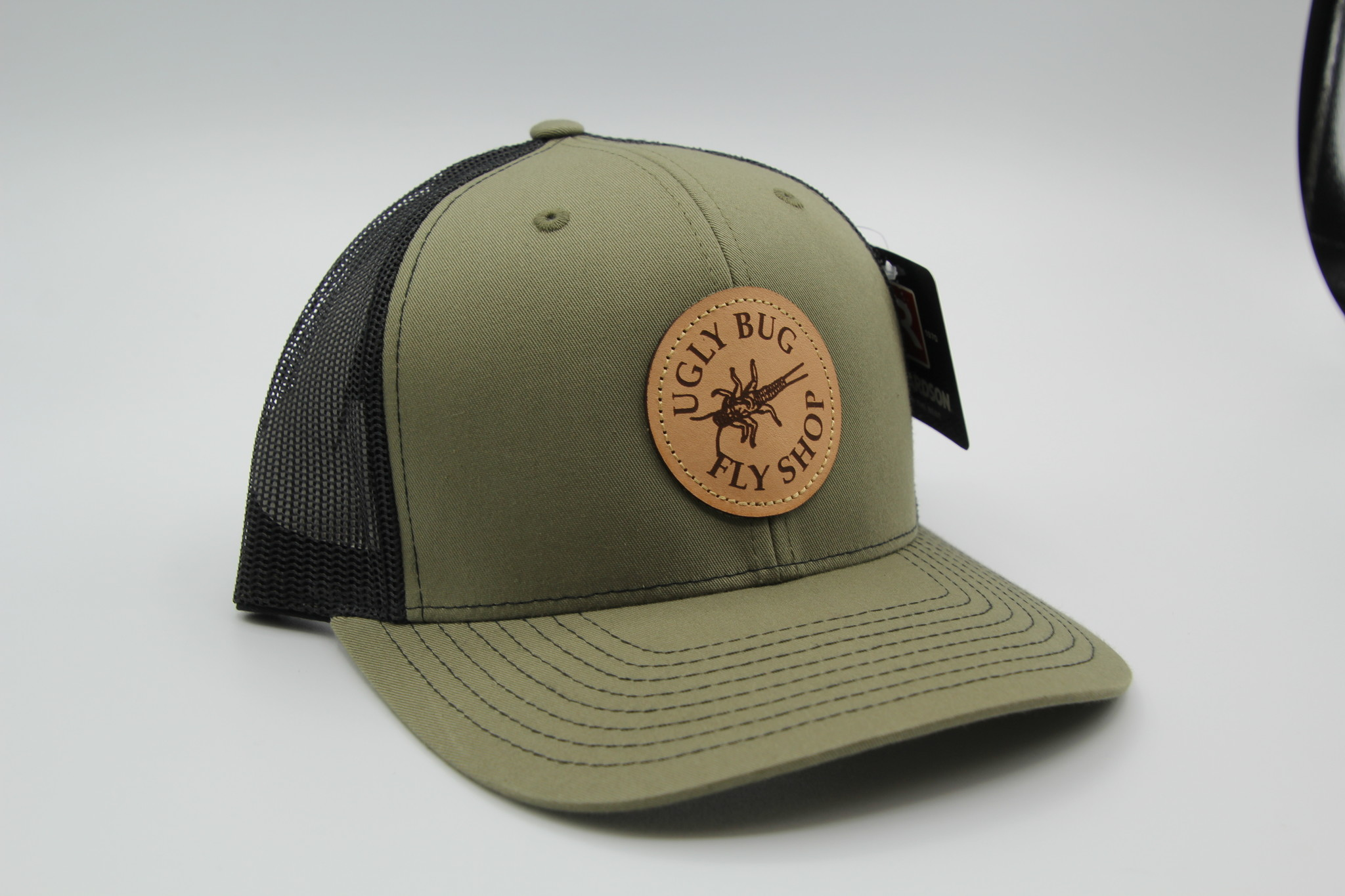 RICHARDSON RICHARDSON LEATHER UGLY BUG PATCH HAT