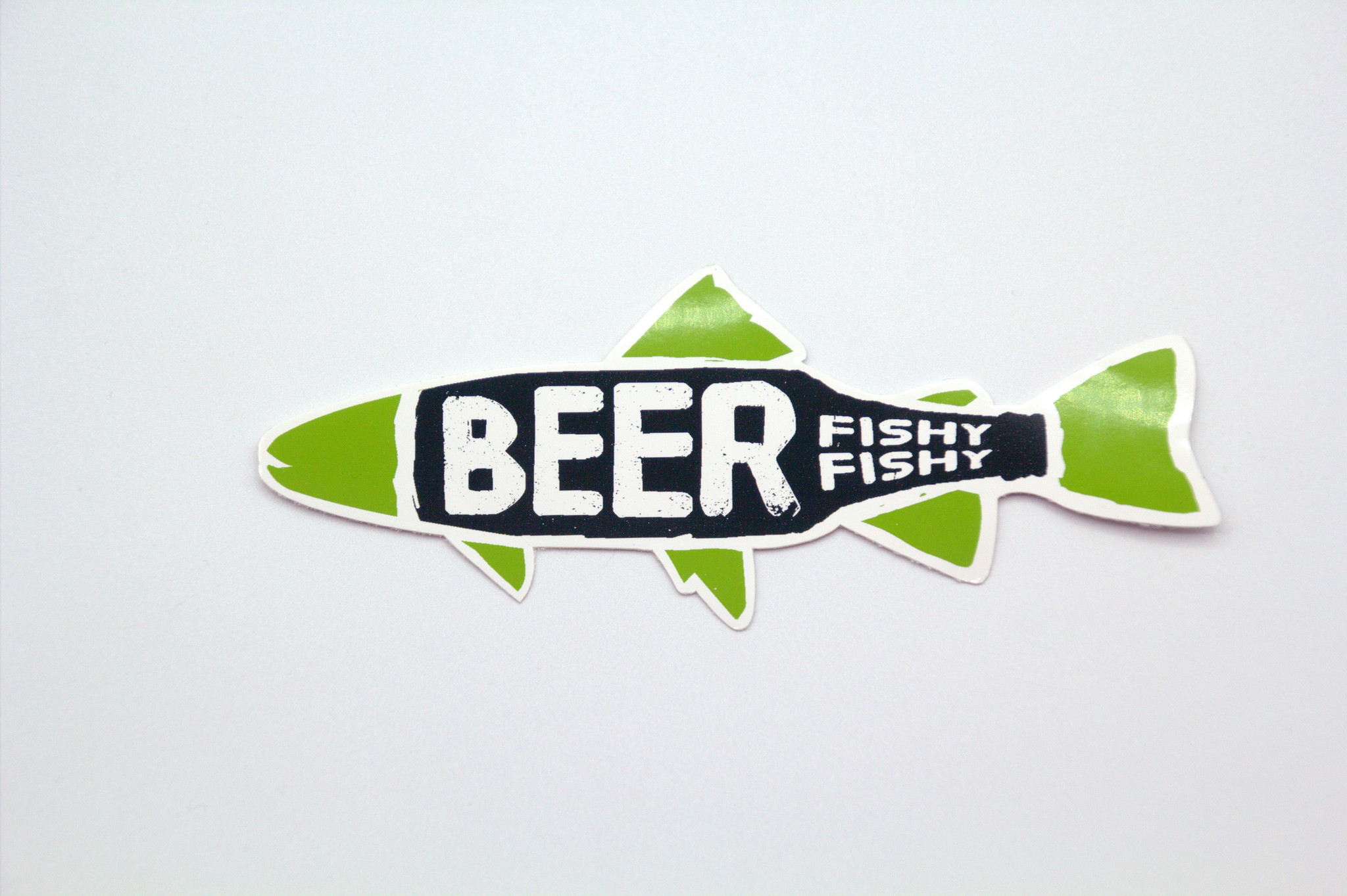 FAT GRAPHICS BEER FISHY FISHY STICKER