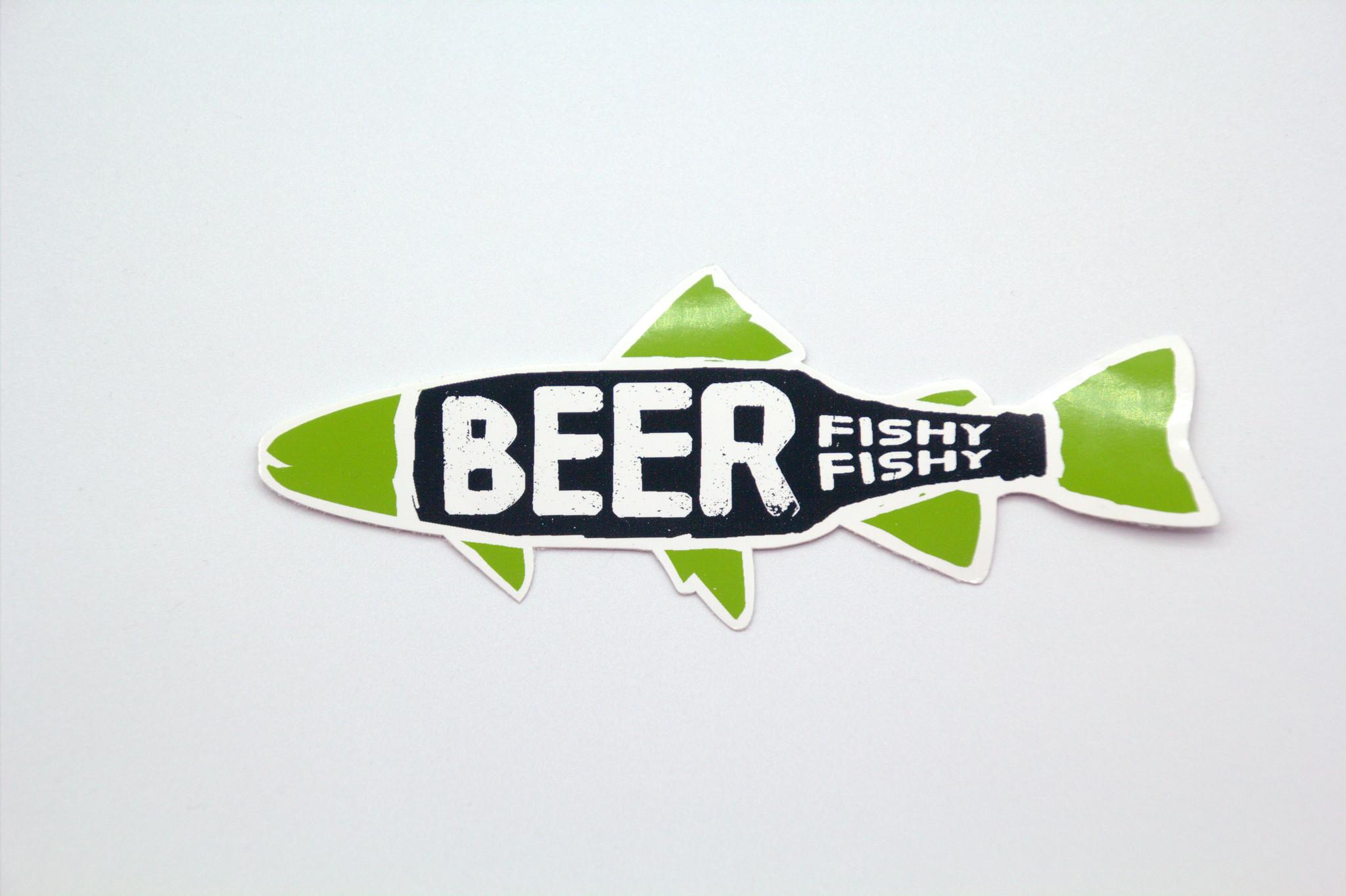 PEDENS BEER FISHY FISHY STICKER