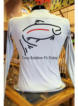 Simms Fishing Products SIMMS WOMENS SOLARFLEX CREWNECK WITH CRAZY RAINBOW LOGO SMALL