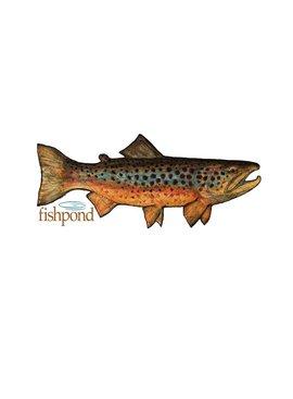 "Fishpond FISHPOND LOCAL STICKER- 6"""