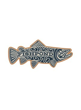 "Fishpond FISHPOND MAORI TROUT STICKER - OVERCAST 7"""