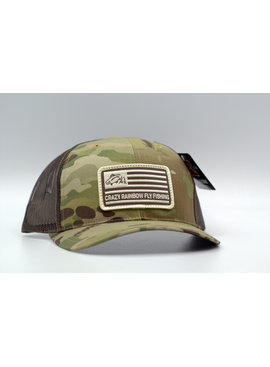RICHARDSON RICHARDSON CRAZY RAINBOW FLY FISHING AMERICAN FLAG HAT