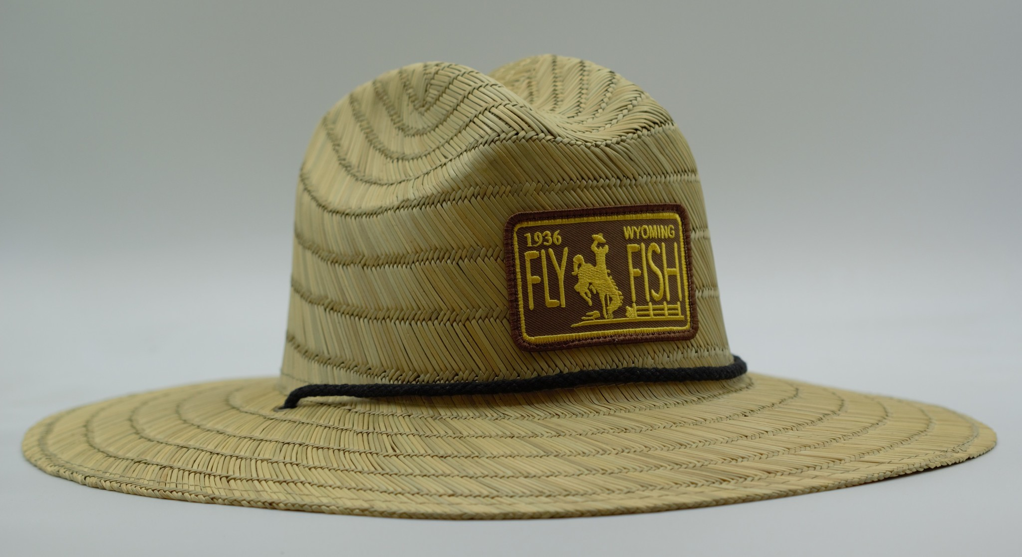 RICHARDSON RICHARDSON STRAW HAT WITH WYOMING LICENSE PLATE PATCH