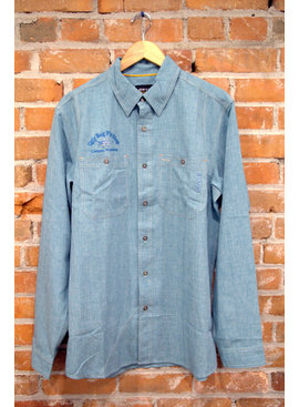 Orvis Company ORVIS TECH CHAMBRAY LS WORK SHIRT WITH UGLY BUG LOGO