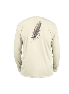 Simms Fishing Products M's Solar Tech Tee LS Stonefly Sand