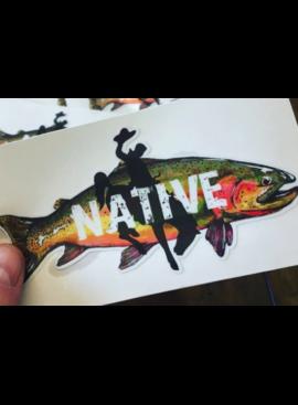 Travis Peak Art Decals Native Cutty