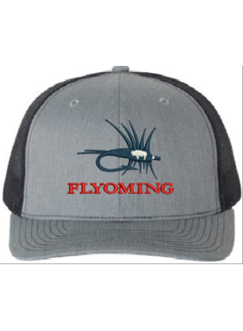 FLYOMING FLYOMING GREY/NAVY STATE FLAG HAT