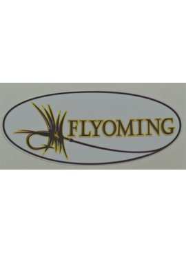 FLYOMING FLYOMING 3*5 BROWN AND GOLD STICKER