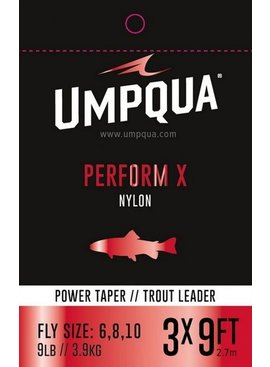 Umpqua Feather Merchants UMPQUA PERFORM X POWER TAPER TROUT LEADER SINGLE PACK