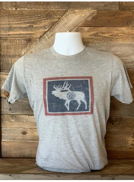 THATS BOWHUNTING THAT'S BOWHUNTING WYOMING FLAG ELK T-SHIRT