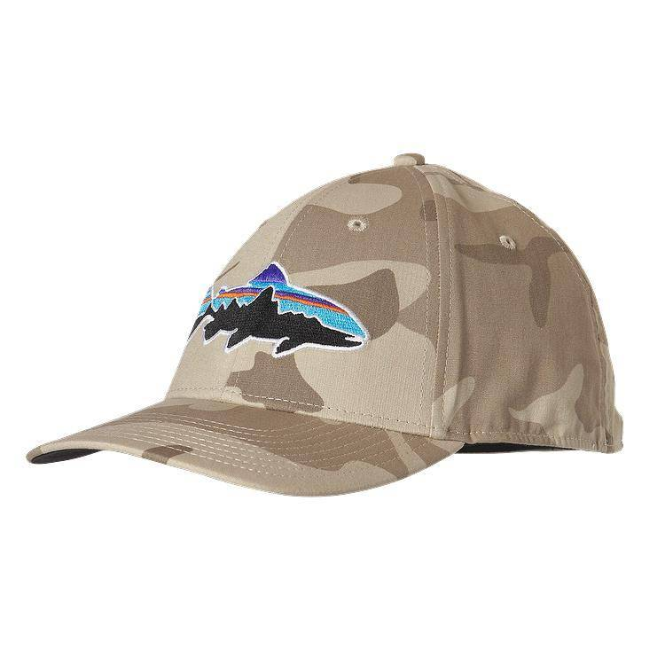 Patagonia Fitz Roy Trout Stretch Fit Hat – Forest Camo - Ugly Bug ... e3cc60f2009
