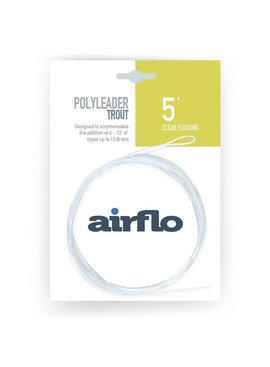 AIRFLO AIRFLO POLYLEADER TROUT CLEAR FLOATING 5'