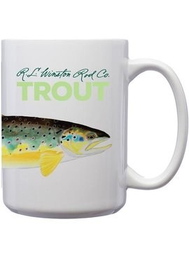 R.L. Winston Rod Co. R.L. WINSTON MUG WITH BROWN TROUT