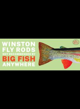 "R.L. Winston Rod Co. R.L. WINSTON BROWN TROUT BOAT STICKER 12"" X 5"""